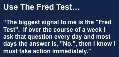 The Fred Test - Deciding whether or not to keep a salesperson