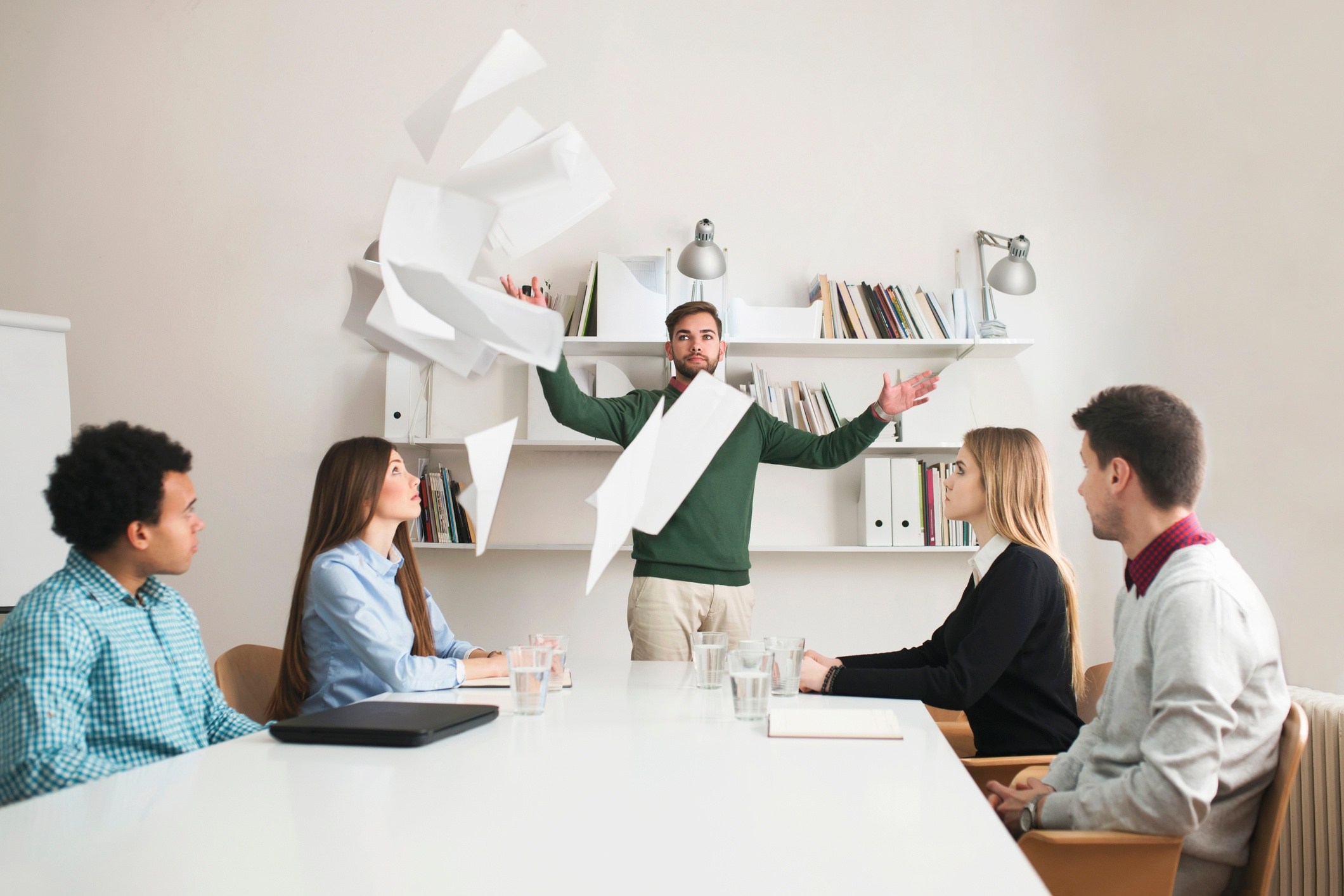 Frustrated salesperson lost their mojo