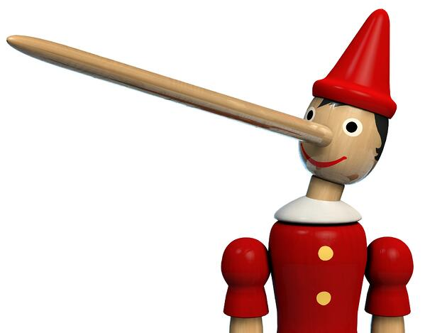 True sales professionals do not lie cheat or steal - like Pinocchio