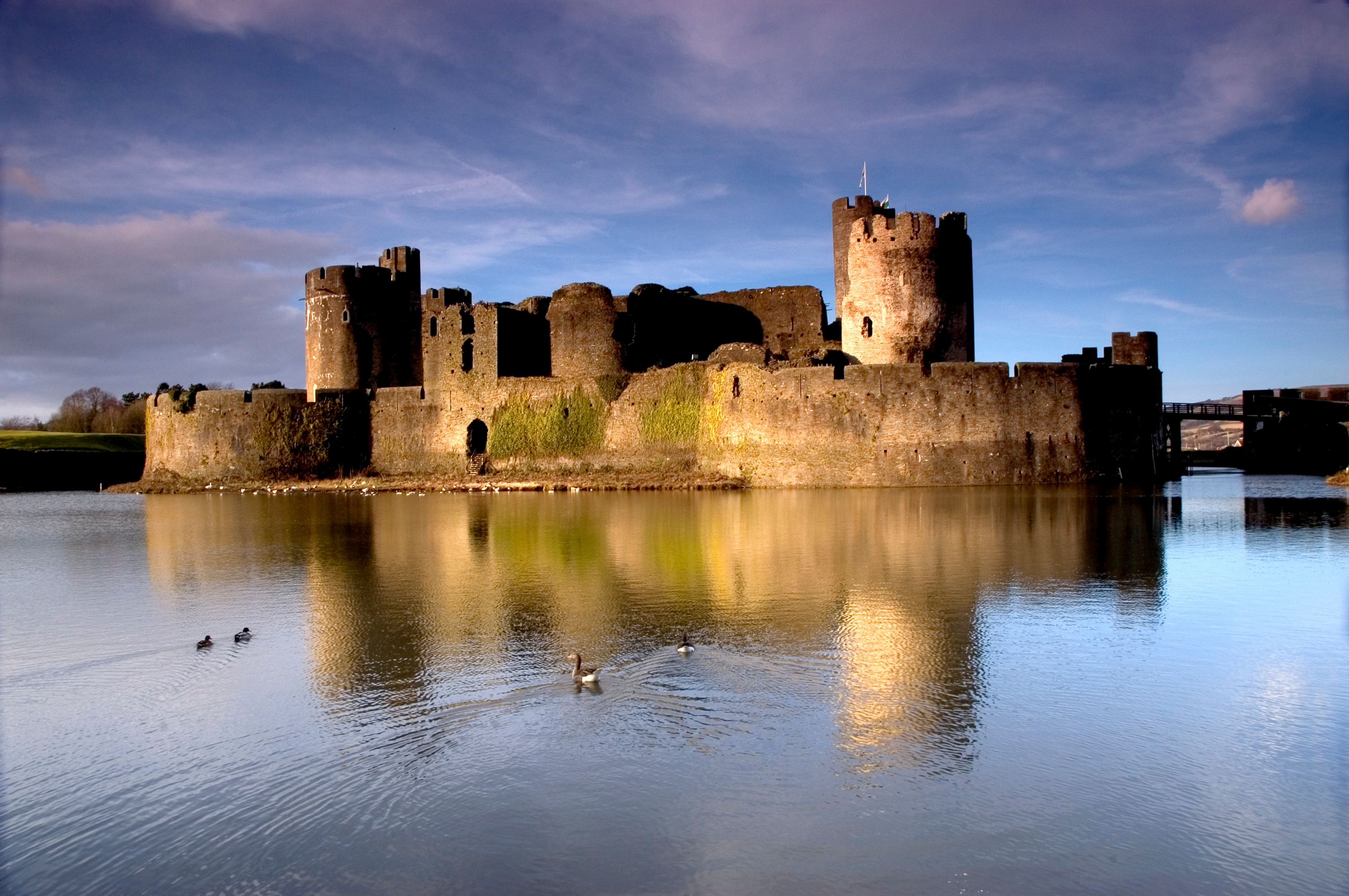 Moats also protect old castles - competitors don't care about history