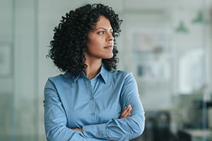 woman-contemplating-in-office